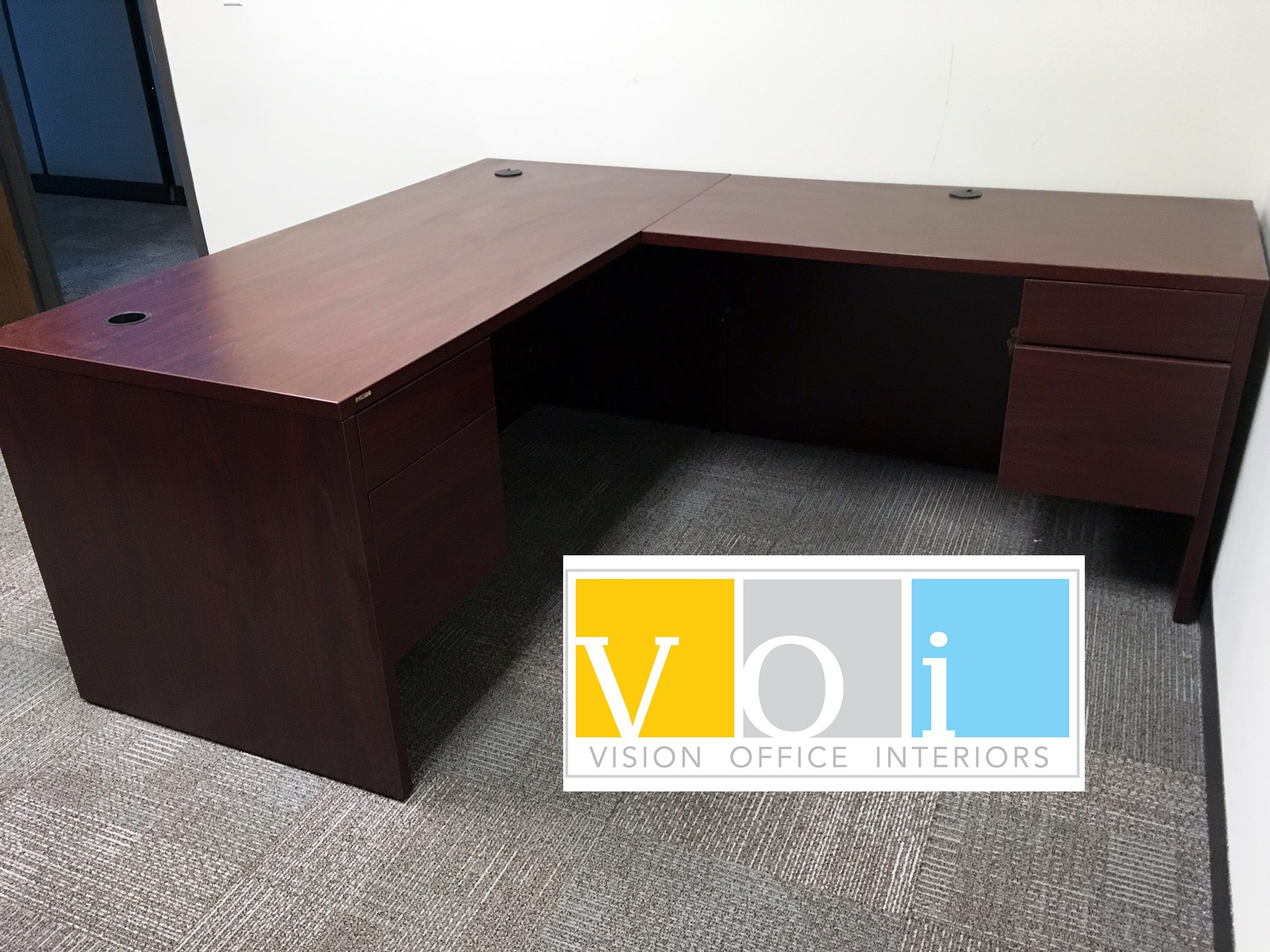 hon l shaped desk vision office interiors