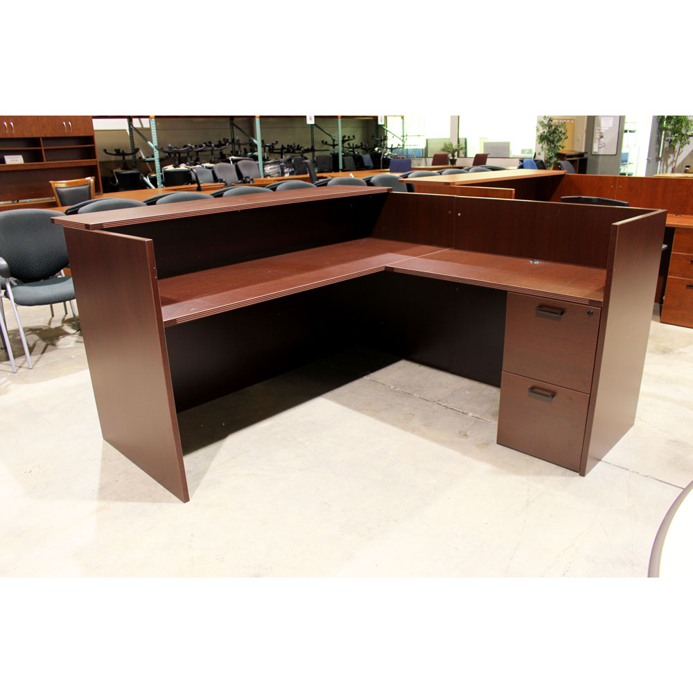 Used L Shaped Reception Desk