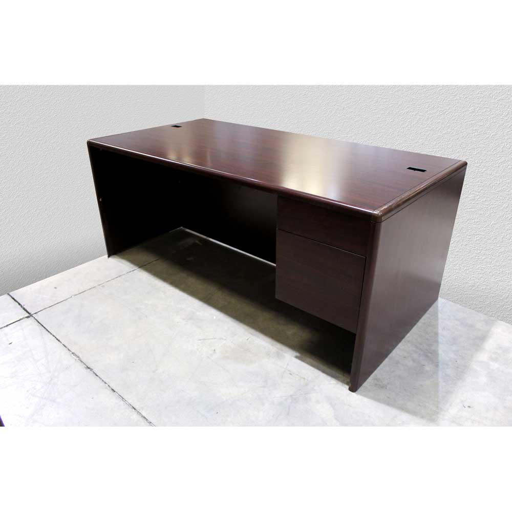 Used Office Desk with Credenza