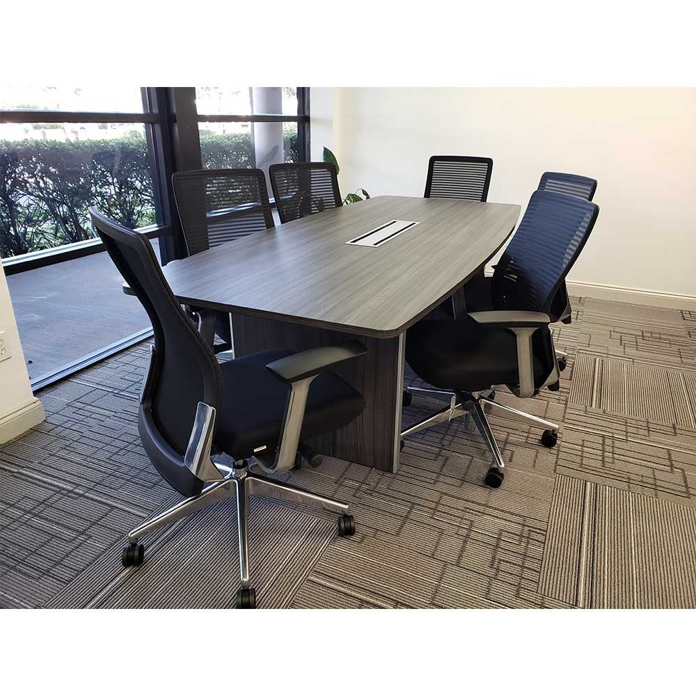 Used 8 Boat Shaped Conference Table With Chairs Vision